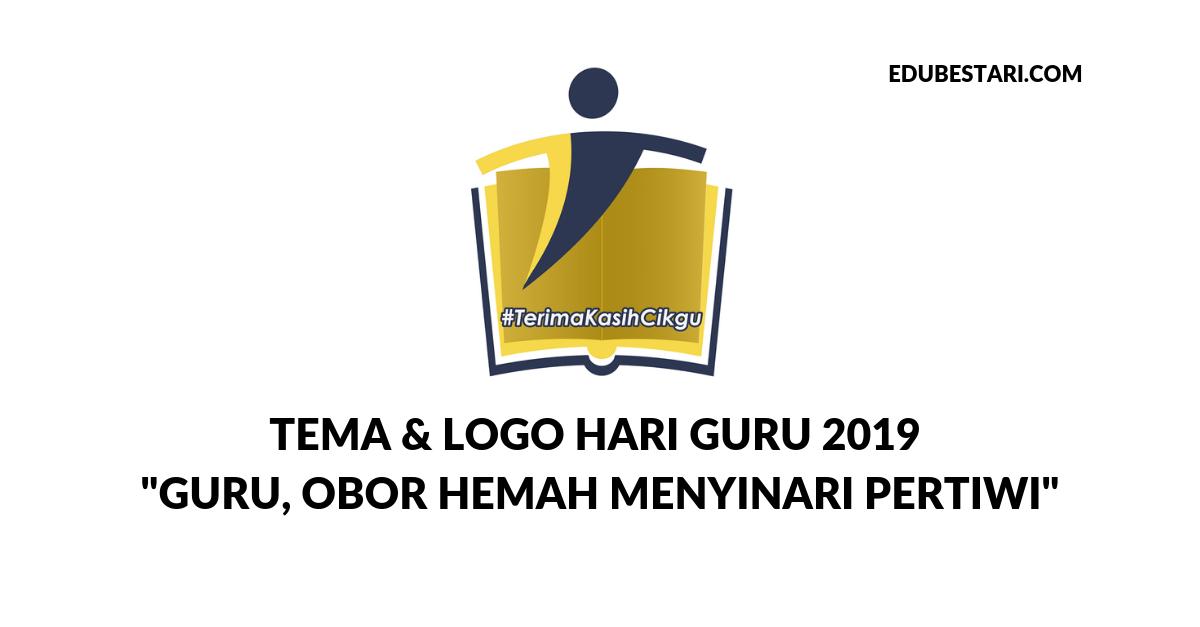 Logo Tema Hari Guru 2020 Berguru Demi Ilmu Bina Generasi Baharu Edu Bestari
