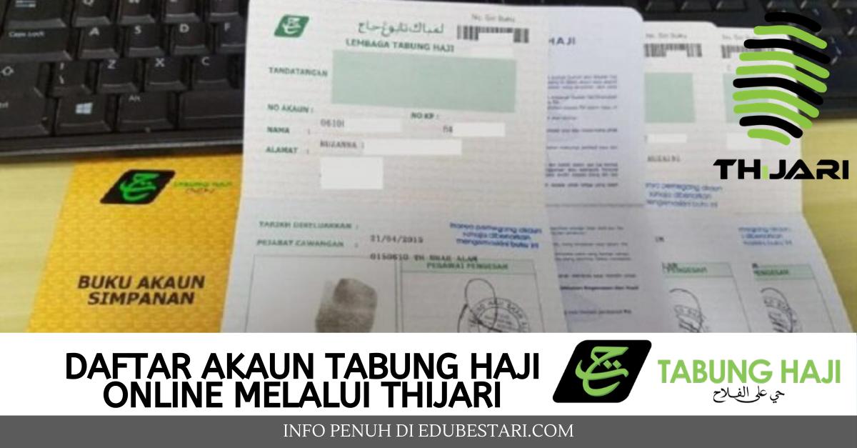 Cara Daftar Akaun Tabung Haji Online Thijari Untuk Semak Baki Transfer Duit