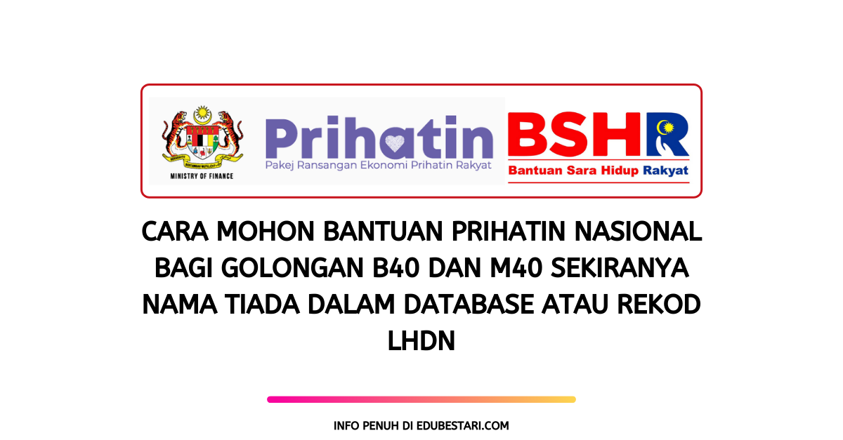 Panduan Permohonan Bantuan Prihatin Nasional Secara Online Cute766