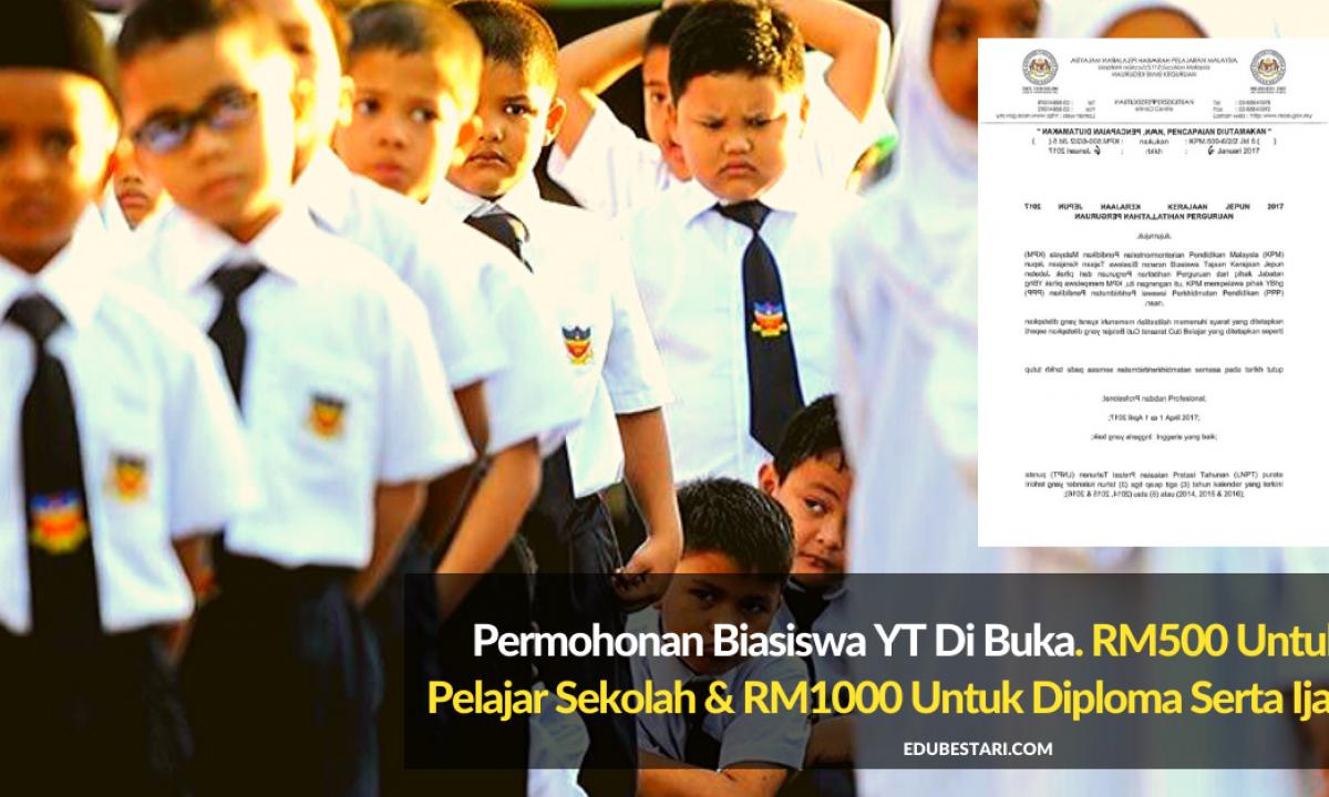 Tawaran Biasiswa Yayasan Terengganu Tahun 2020 Edu Bestari