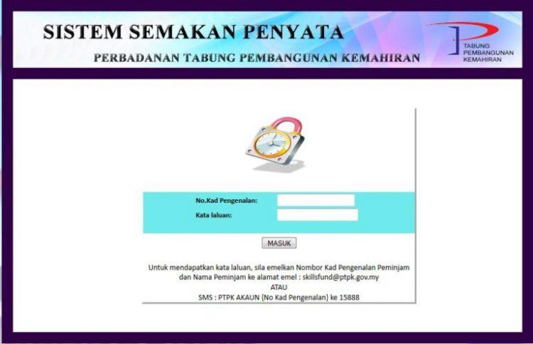 Semak Baki Pinjaman Ptpk Online Edu Bestari