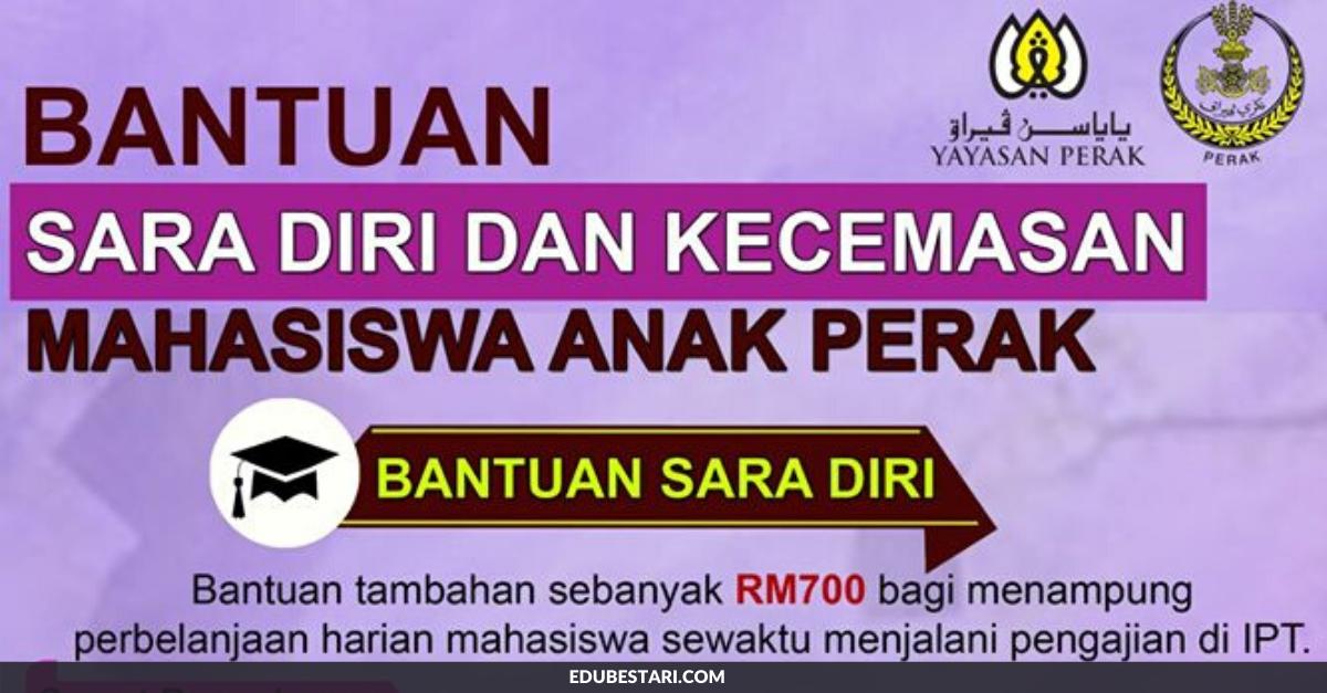 Permohonan Bantuan Sara Diri Kecemasan Mahasiswa Anak Perak Di Buka