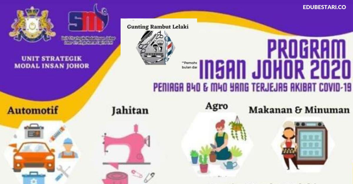 Semakan Permohonan Program Insan Johor Peniaga B40 M40 Edu Bestari