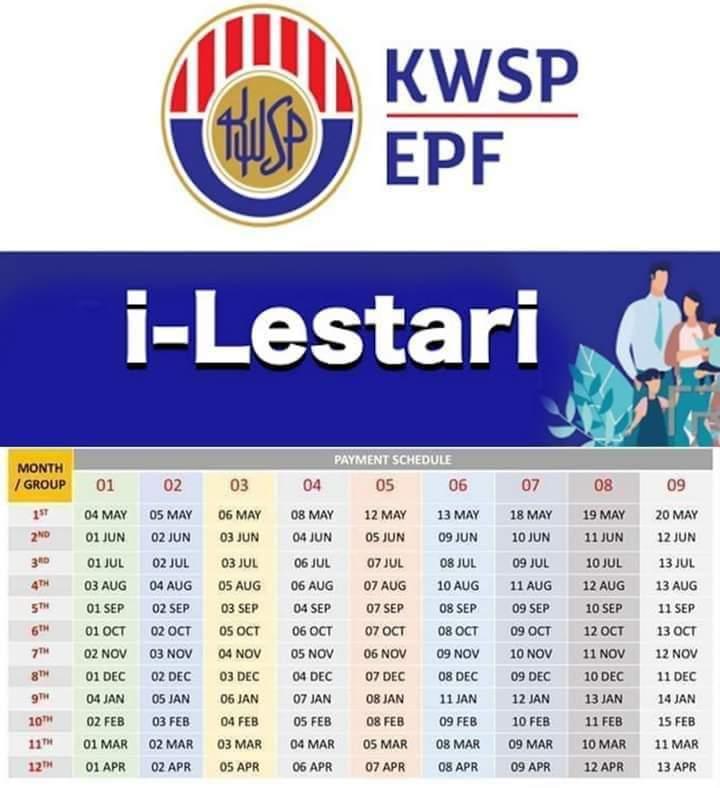 Tarikh Pembayaran I Lestari Kwsp Bulan Oktober 2020 Edu Bestari