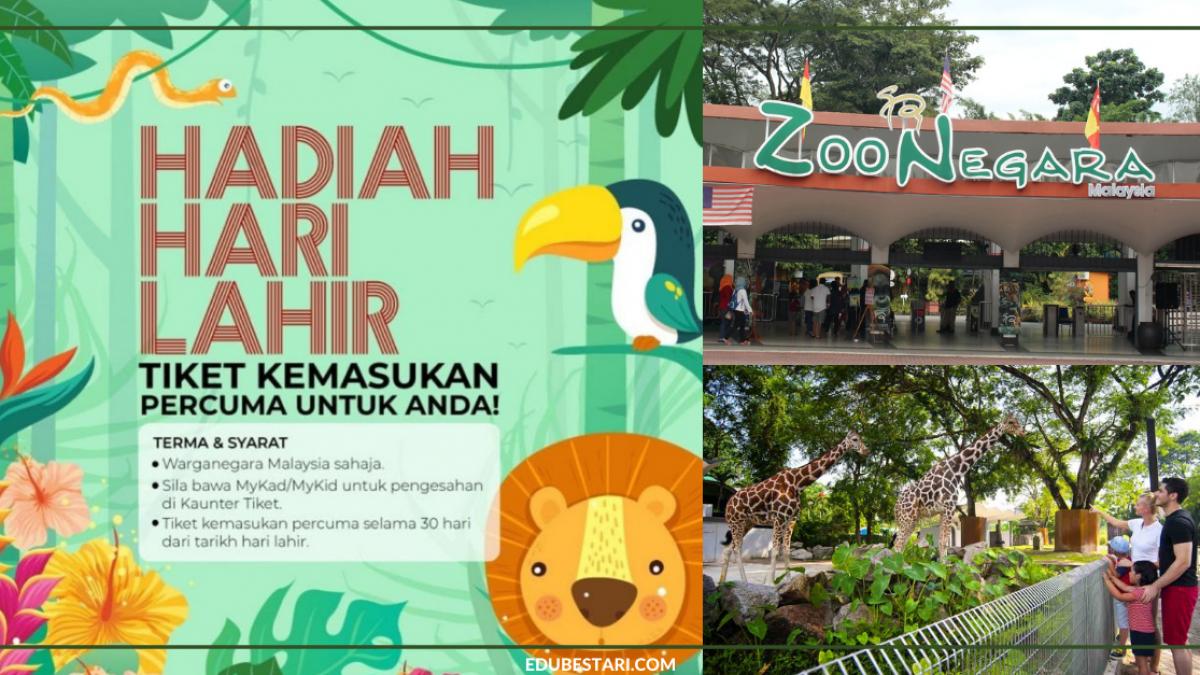 Tawaran Tiket Masuk Zoo Negara Percuma Selama 30 Hari Dari Hari Lahir Anda Edu Bestari