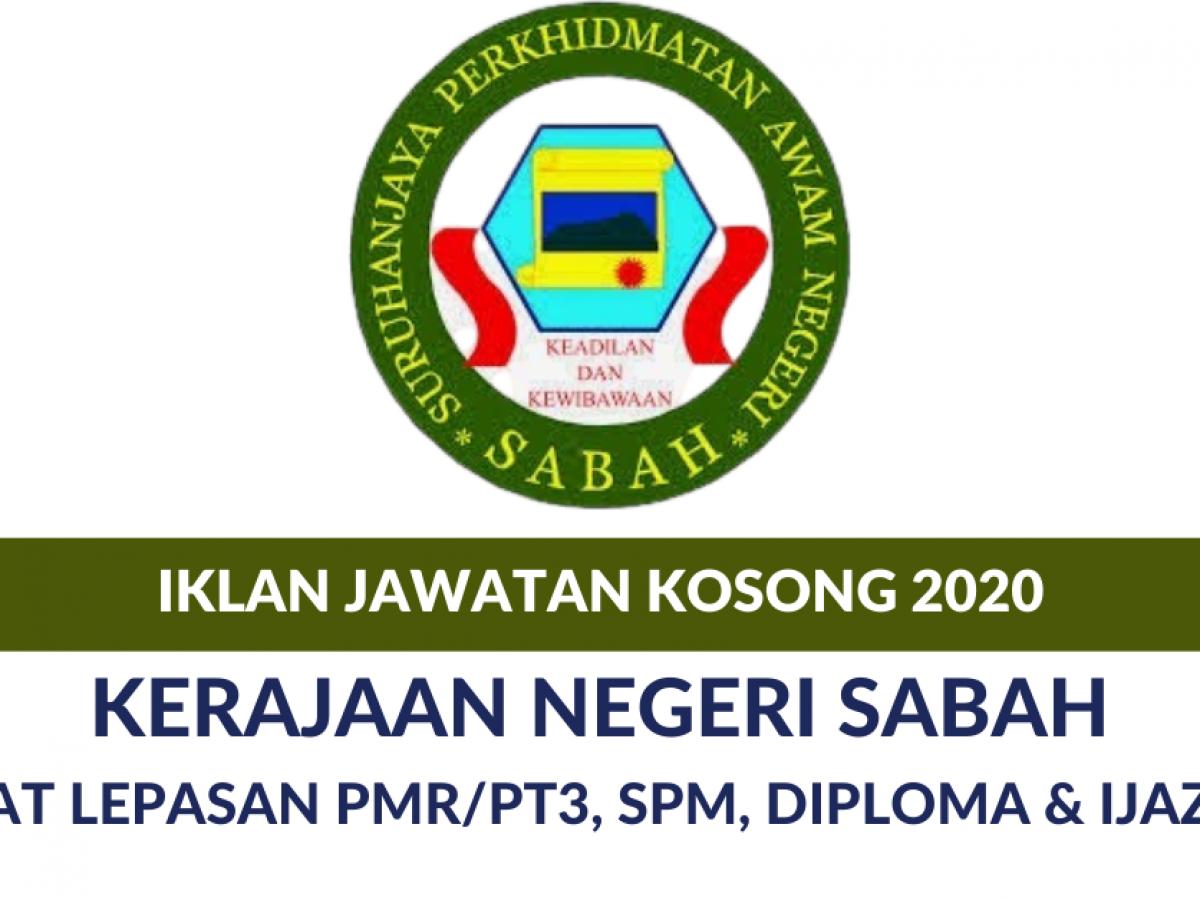 Iklan Jawatan Kosong Kerajaan Negeri Sabah 2020 Buat Lepasan Pt3 Pmr Spm Diploma Ijazah Edu Bestari